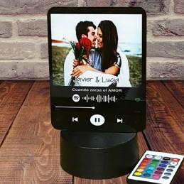 Lámpara con Código Spotify y foto Personalizada