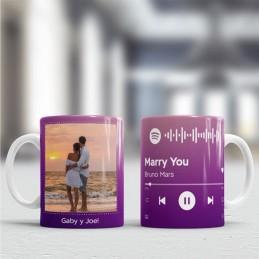 Taza personalizada con tu canción spotify