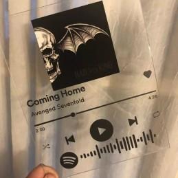 Tabla acrílica personalizada, código Spotify, fotos personales - Álbum