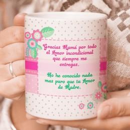 Taza personalizada Día de la Madre frase cariñosa