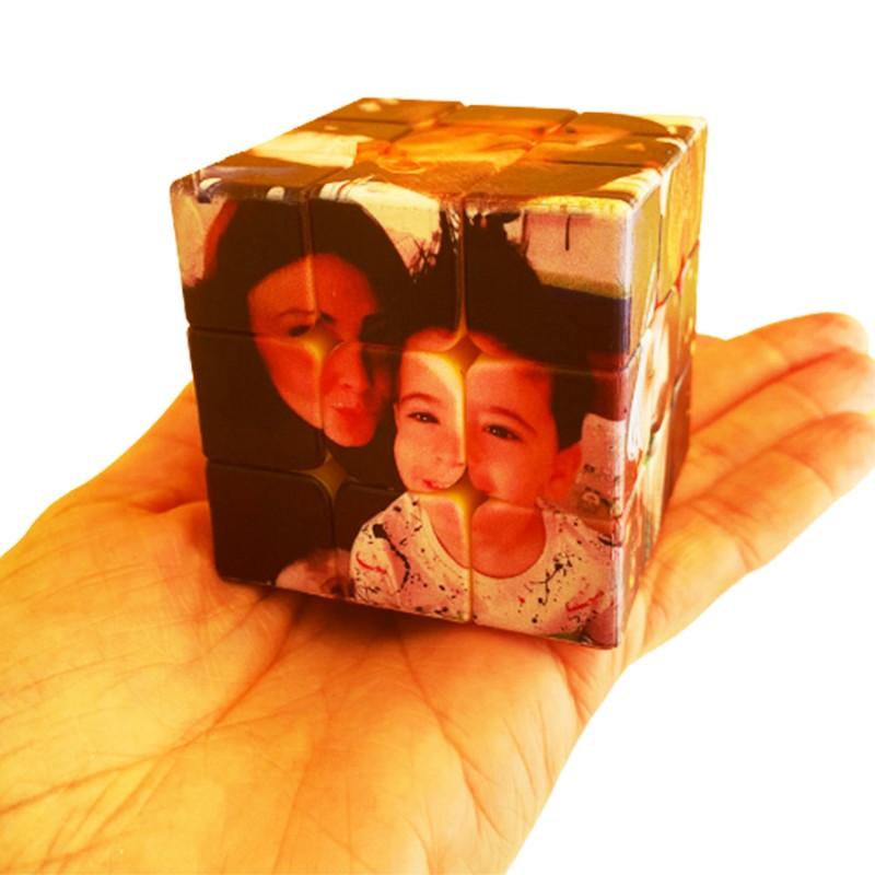 Cubo de Rubik Personalizado Juguete Creativo Giratorio 3D Con 6 Imágenes