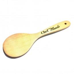 Cucharón de madera para regalar a chefs personalizada
