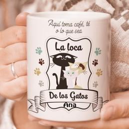 Taza personalziada La loca de los Gatos