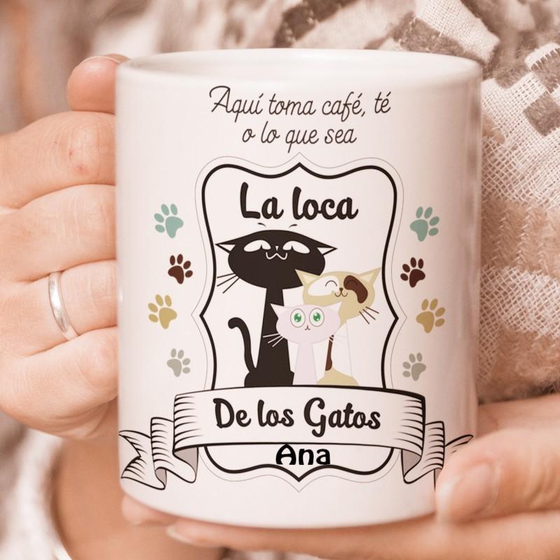Taza personalizada La loca de los Gatos