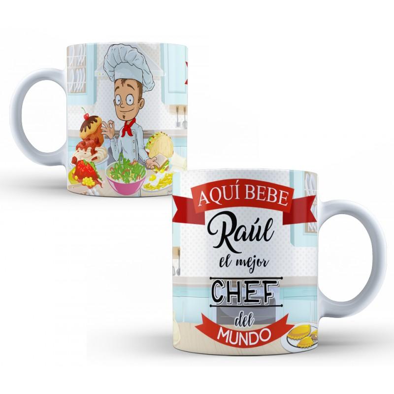 Taza personalizada para chefs, regalo para cocineros profesionales
