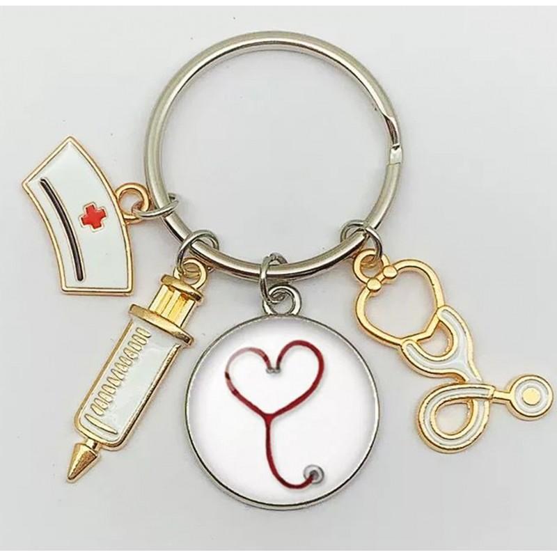 Llavero médico para enfermera, joyería de graduación, regalo de doctor, maestro de graduación