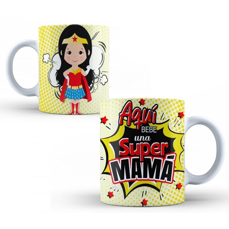 Tazas para Madres - AQUÍ Bebe UNA Super Mamá