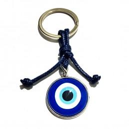 Llavero Ojo Turco con cuerda azul