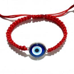 Pulsera roja amuleto mal de ojo , con ojo turco