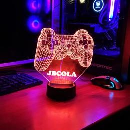 Lámpara Joystick gamer 3D con Luz LED personalizable