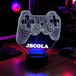 Lámpara Joystick Playstation 3D con Luz LED personalizable