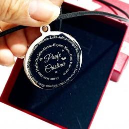 Medallón colgante profes para fin de curso-recuerdo de alumnos