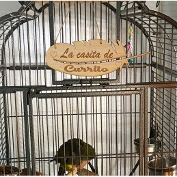 Cartel personalizado para la jaula de tu pajaro o avario