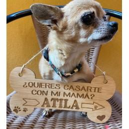 Cartel collar para mascota en tu boda