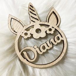Bola navidad de unicornio personalizada con nombre