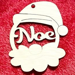 Adorno navidad para el arbol en forma de papa noel con nombre