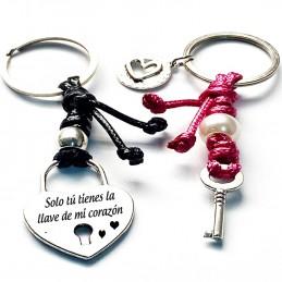 Pack 2 llaveros San valentin, Solo tú tienes la llave de mi corazon