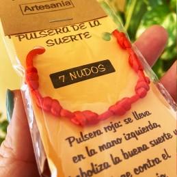 Pulsera roja de 7 nudos de la suerte,Amuleto del Kabbalah, para la protección y el Mal de Ojo