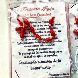 Pulsera rosario 7 nudos hilo rojo amuleto de protección y buenas suerte