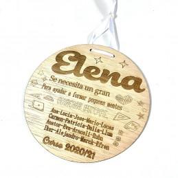 Cartel de madera regalo para profesores en fin de curso o Navidad